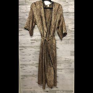 Leopard satin Robe 💋Natori Private Luxuries 🐆